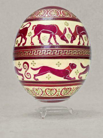 Antike Tiere auf Ei 1