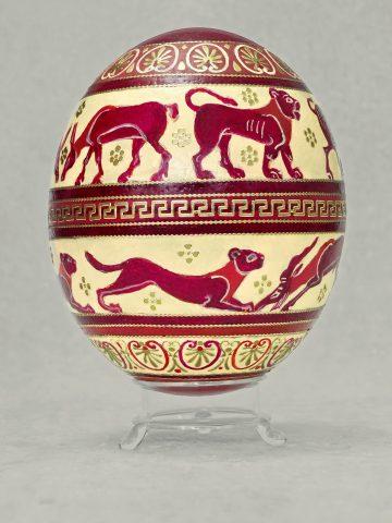 Antike Tiere auf Ei 2