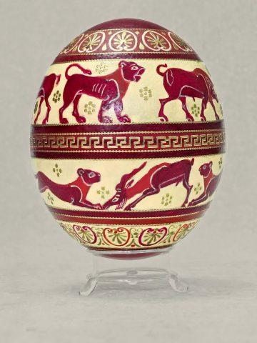 Antike Tiere auf Ei 3
