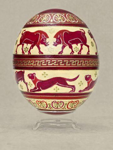 Antike Tiere auf Ei 5