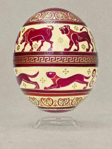 Antike Tiere auf Ei 6